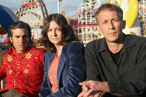 Antietam; Josh Madell, Tara Key and Tim Harris, in front of the Coney Island Cyclone.